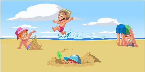 kids-playing-on-beach-vector-cartoon3